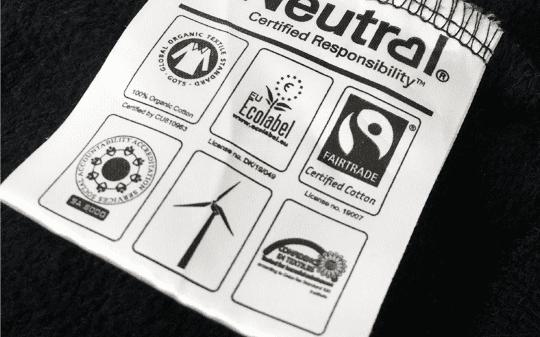 Organic Printed Hoodie Certification Label